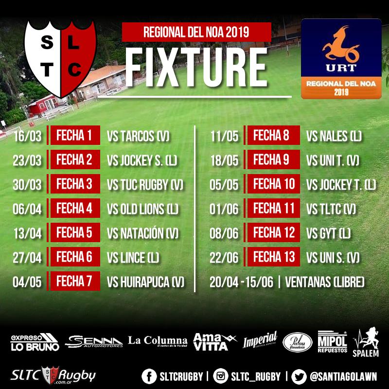 Fixture Regional 2019